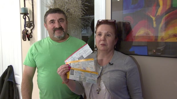 Joaquim and Dorinda Brasileiros say they had to pay over $5,300 for a last-minute ticket because of a mix-up by Air Canada.