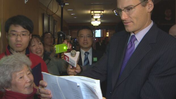A petition with more than 1,200 signatures was delivered to Mayor Gregor Robertson at Vancouver City Hall Tuesday, demanding a temporary moratorium on new market development in the city's Chinatown neighbourhood.