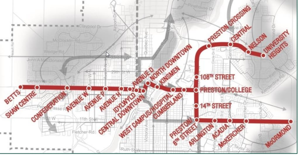 City of Saskatoon planning transportation strategy for