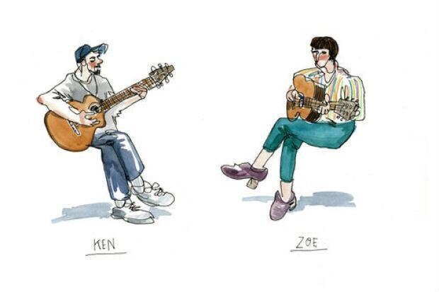 Artist rendering of Ken Blackburn and Zoe Boekbinder