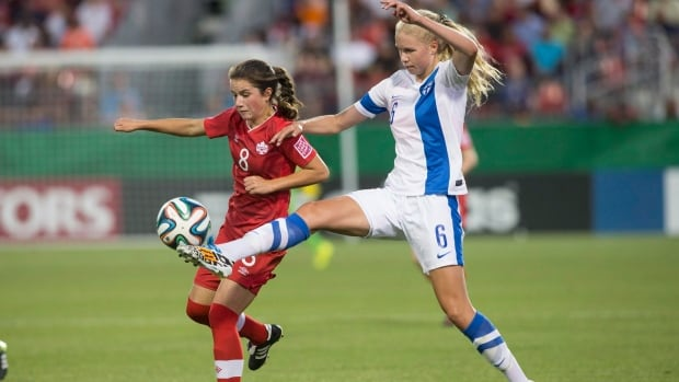 Team Canada's teenage sensation 16-year-old Jessie Fleming, shown in last year's U-20 FIFA tournament, scored the first goal in Canada's 2-0 win over Scotland at the Cyrpus Cup.