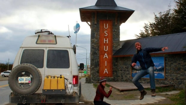 Robbie and Kristen Hickey left Corner Brook in October, and finally made it to Ushuaia, Argentina after more than 27,000 kilometres of travelling.