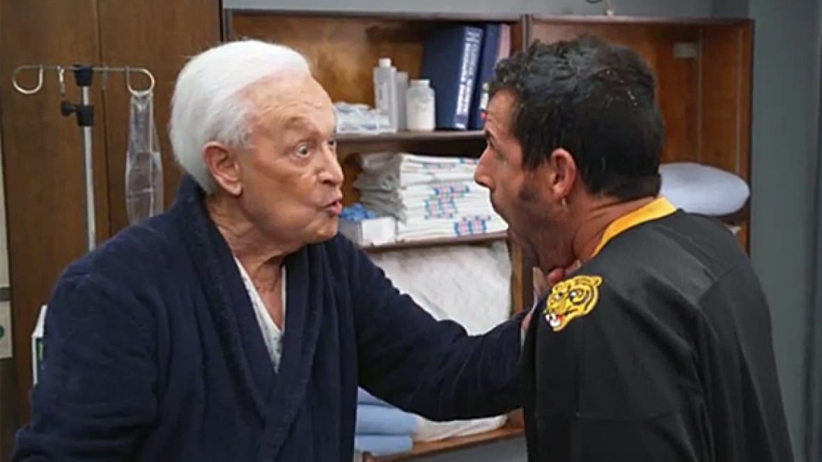 Bob Barker and Adam Sandler reenact their Happy Gilmore ...