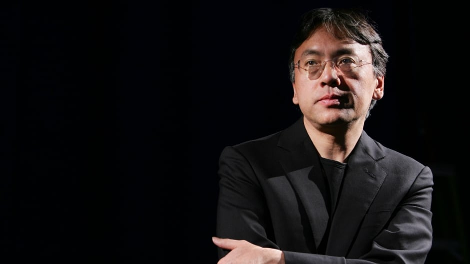 Author Kazuo Ishiguro looks on during an interview with Reuters in New York, on April 20, 2005.