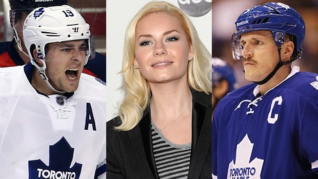 A fan has apologized for an offensive tweet that appeared on television about Joffrey Lupul and Dion Phaneuf as well as Phaneuf's wife Elisha Cuthbert Friday.