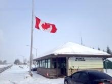 Garrison Petawawa flag at half mast