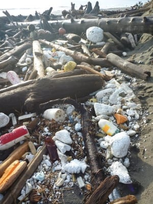 Removing marine debris in Haida Gwaii