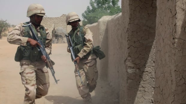 Chadian troops participate in an hostage rescue exercise this weekend. Chad and Niger have sent troops into Nigeria to attack Boko Haram.