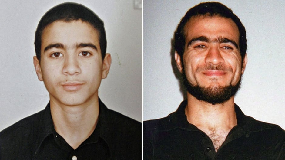 Omar Khadr is seen in an undated photo taken before his arrest in Afghanistan in 2002 at age 15, left, and in a recent undated photo released by Bowden Institution in Innisfail, Alta., where he is serving the remainder of his eight-year sentence.