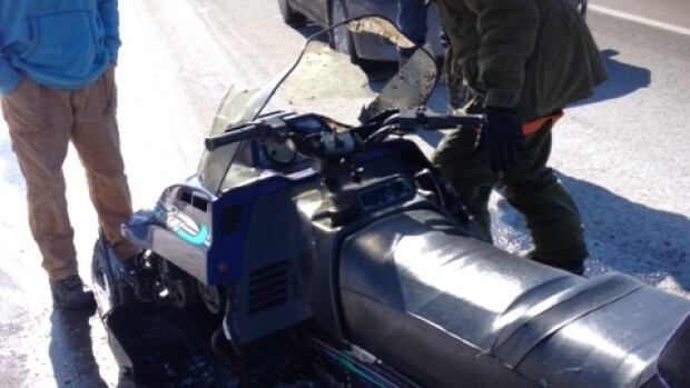 Runaway snowmobile