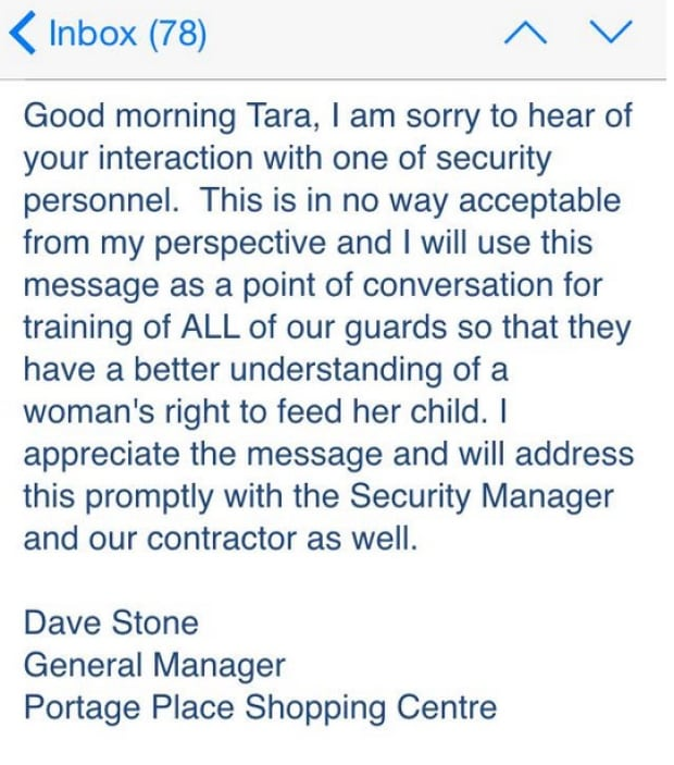 Email apology