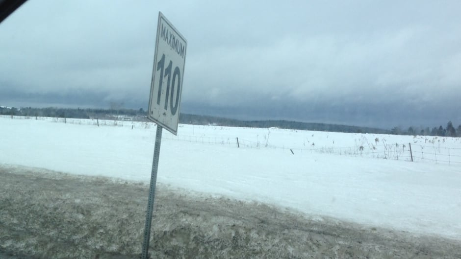 110km/hour is just one of the speed limits you find on Canadian highways.