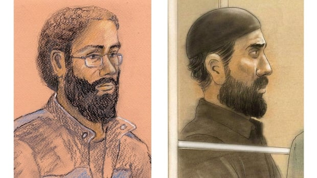 The trial heard 25 hours of secretly recorded conversations between Raed Jaser,  left, Chiheb Esseghaier and an undercover FBI agent.
