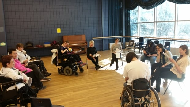 University of Regina students participate in a theatre class intended to improve access for people with disabilities. A recent University of Guelph study suggests students with disabilities tend to face greater barriers to employment than their non-disabled peers.