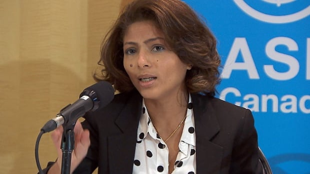 Ensaf Haidar is the wife of Raif Badawi. She lives in Sherbrooke, Que., with their three children and has been lobbying the Canadian government to assist in freeing Badawi after he was jailed in Saudi Arabia.