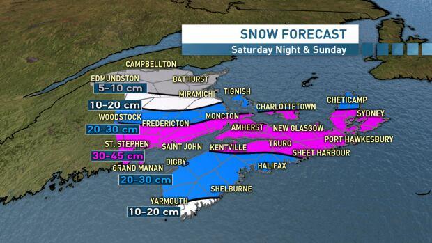 Snow forecast Sunday