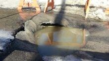 Sudbury pothole