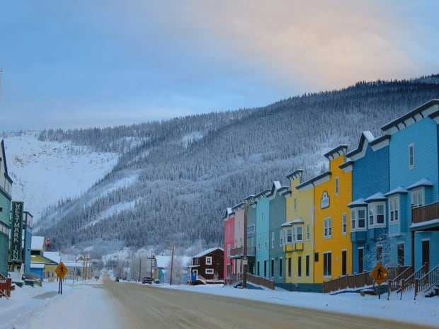 Dawson City in winter