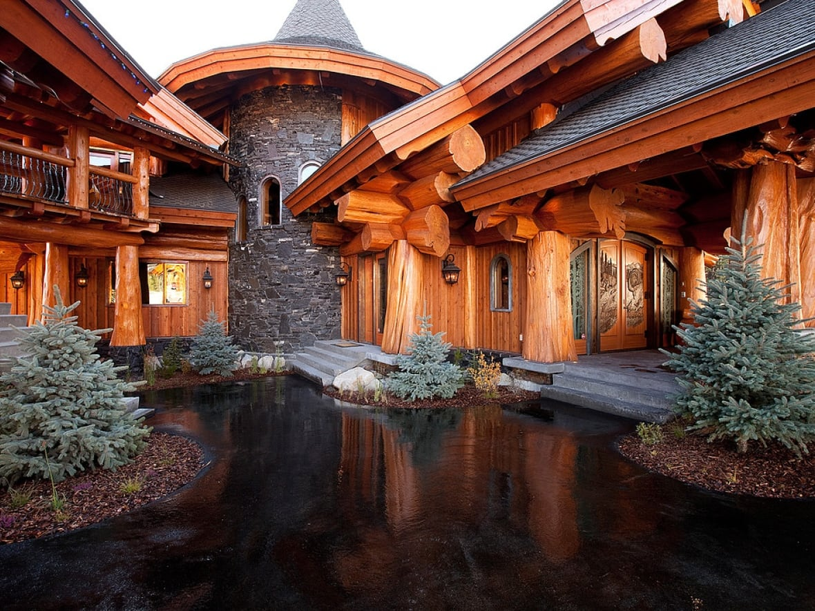 This 9000 sq ft log home is for sale in big white b c for a cool 9 2 million sothebys realty