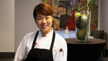 Jinhee Lee sous chef at Hotel Arts Raw Bar
