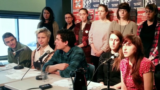 Stéphanie Thibodeau, a member of UQAM's Education faculty student association, explains that student associations may vote to extend the strike past its two-week run beginning on March 21.