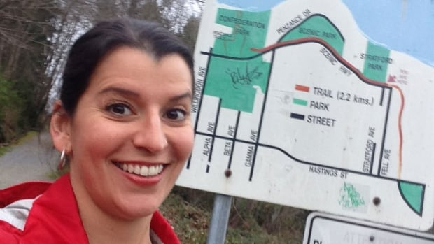 CBC reporter Susana Da Silva took this trail head selfie.