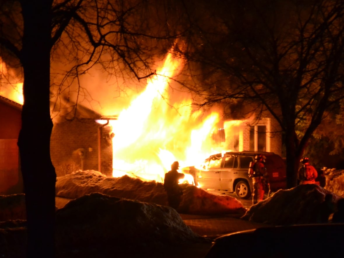 Barrie house fire was drug related police suspect cbc news flames spew out of the garage towards firefighters at 59 collette cres in barrie ont on march 13 2015 submitted by marc barzo solutioingenieria Gallery