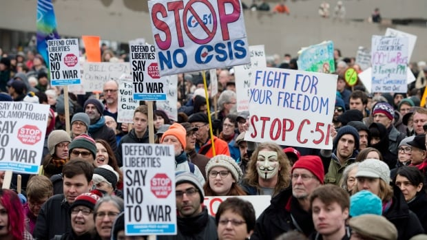 Protesters hit the streets across the country earlier this month as part of a national day of action against the government's proposed anti-terror bill. On Friday, CBC News reported that the Conservatives were ready to make some changes to the bill when it goes to clause-by-clause review at committee this week.