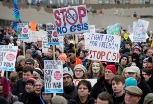 Protest Bill C-51 20150314