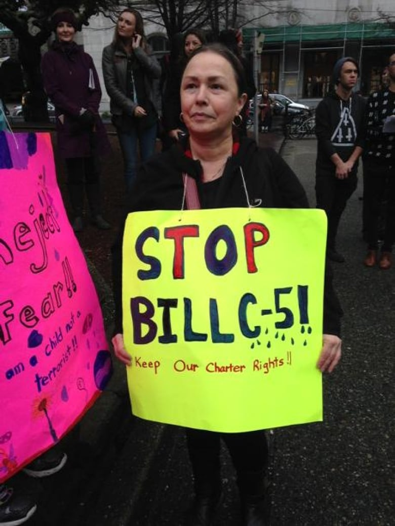 Bill C-51 protest gets crowded at Vancouver Art Gallery