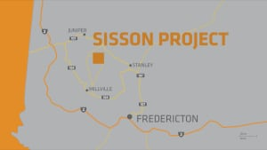 Sisson mine project map