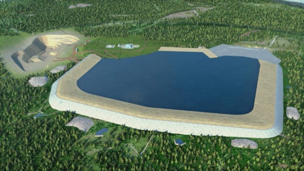 The Sisson mine project includes a tailings pond and ore processing plant, covering 12.5 square kilometre of Crown land.