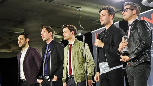 Hamilton's Arkells were winners of the Canadian Recording of the Year award at the Hamilton Music Awards for their album High Noon.