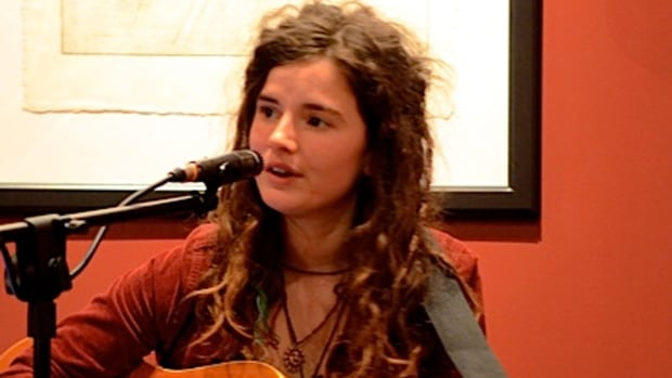 Olivia Gains, pictured here at a paid gig, was arrested on Mar. 11 outside Giant Tiger in downtown Cambridge.