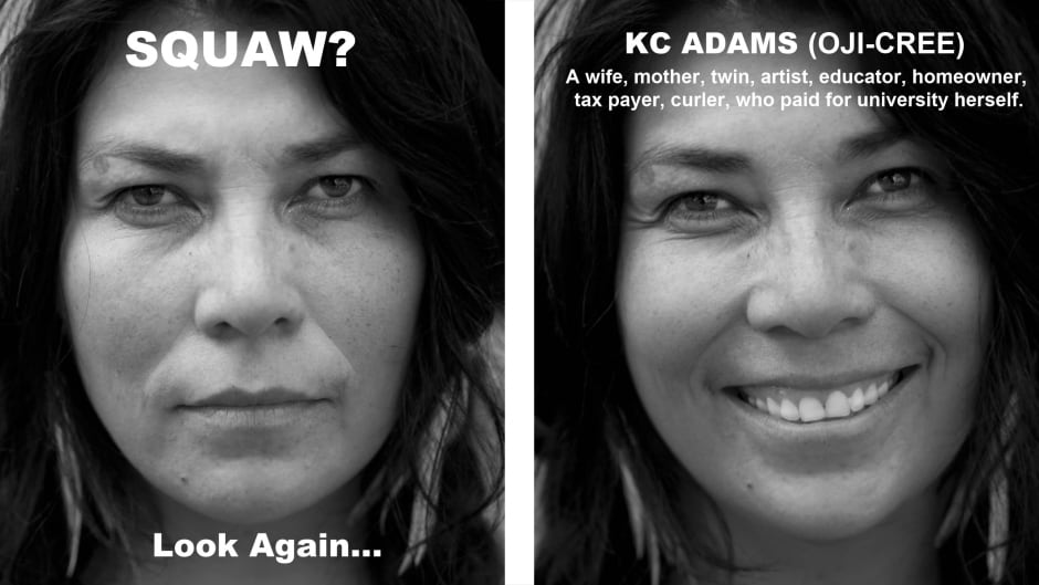 Winnipeg-based artist KC Adams discusses Perception, her portrait series challenging racial slurs routinely directed at Canada's aboriginal people.