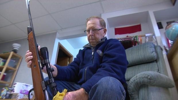 A Saskatchewan gun owner shows one of his firearms.