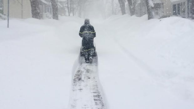 A nor'easter will drop up to 35 centimetres of snow in eastern parts of Nova Scotia on Saturday.