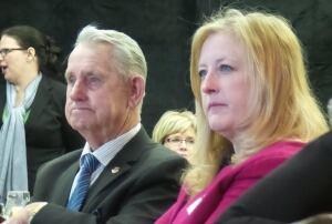 Lisa Raitt and Milton Mayor Gordon Kratz