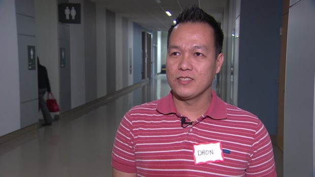 Dohn Mojica, who has worked in Canada for seven years, is among many workers trying to become permanent residents.