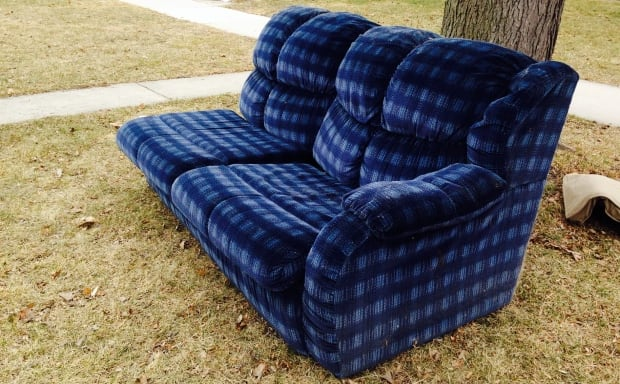 Couch on Victoria Avenue