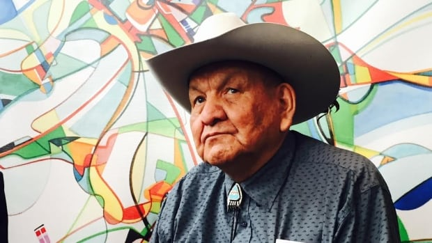 """I don't have to celebrate,"" says Alex Janvier an Indigenous artist who survived 11 years in a residential school."