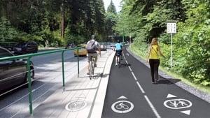 Stanley Park Causeway bike lane upgrades