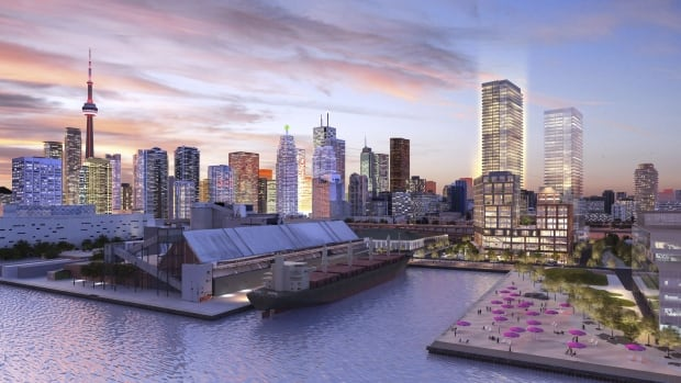 Developers released this photo depicting their 'City of the Arts' plans in East Bayfront.