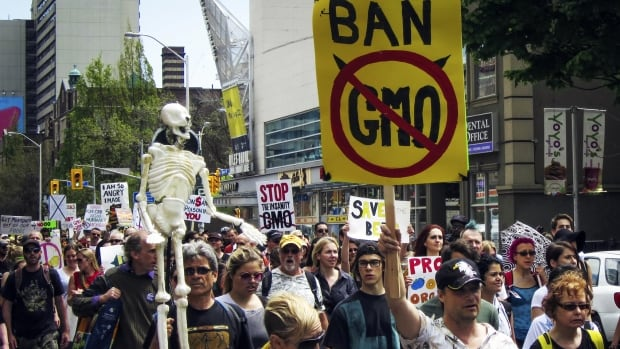 Protesters in the 'March Against Monsanto' in Toronto, May 24, 2014, express concern about genetically modified organisms (GMOs).