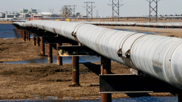 In this 2007 file photo, an oil transit pipeline runs across the tundra to flow station at the Prudhoe Bay oil field on Alaska's North Slope. The U.S. should immediately begin a push to exploit its enormous trove of oil in the Arctic waters off of Alaska, or risk a renewed reliance on imported oil in the future, an Energy Department advisory council says in a study to be released Friday, March 27, 2015.