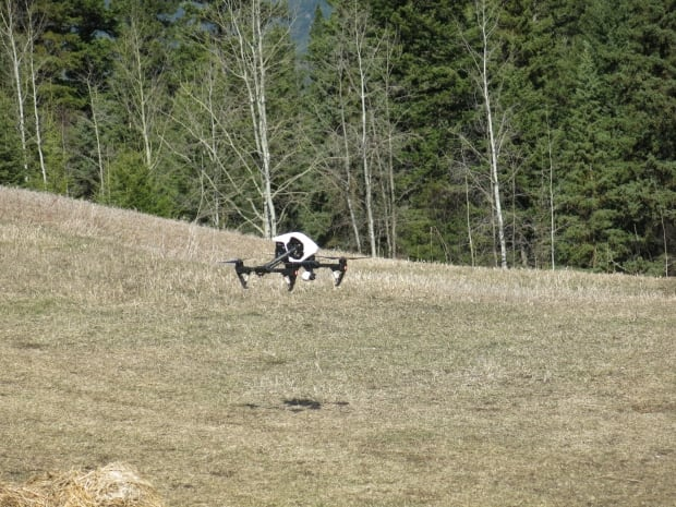 (A flying a drone at Freith Farm/Photo by Lincoln Smith)