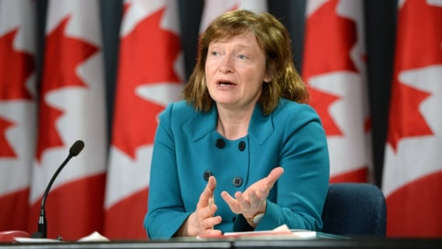 Suzanne Legault, Information Commissioner of Canada, holds a press conference in the National Press Theatre in Ottawa.