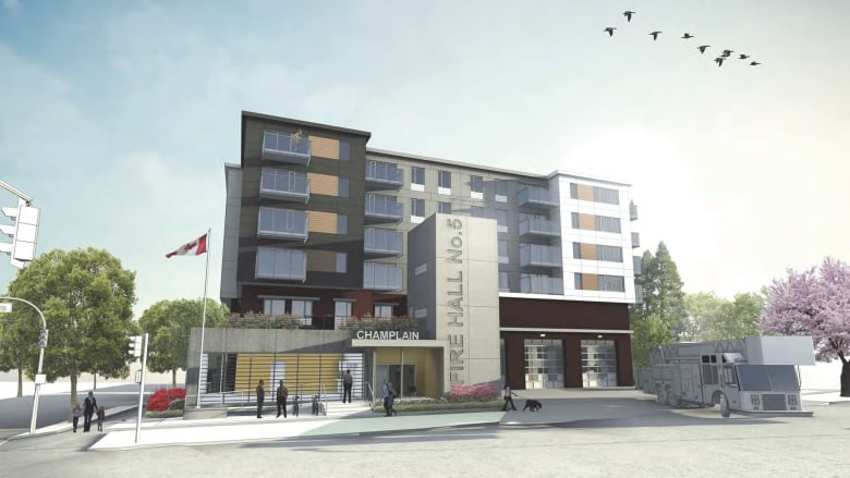 New Champlain Heights fire hall to include social housing