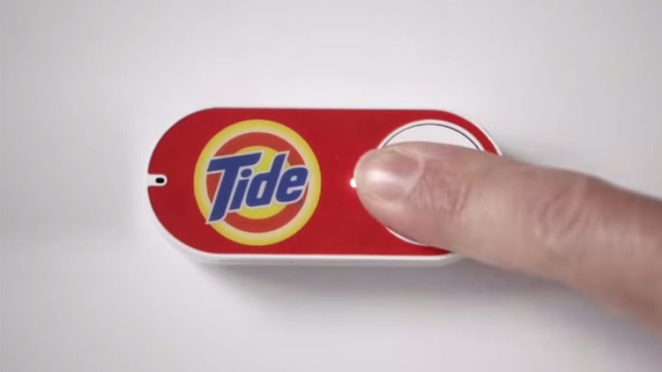 The 'Dash button', which is connected with the Amazon app through Wi-Fi, is brand specific and the company has tied up with household names such as Tide, Huggies and Gillette.