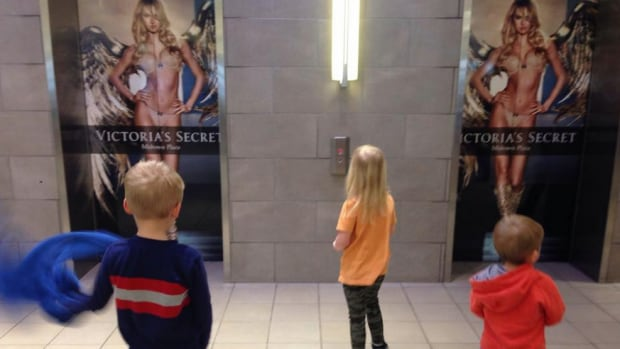 Jennifer Campbell is urging the mall to take down some of the posters now up advertising a new Victoria's Secret outlet in Saskatoon.